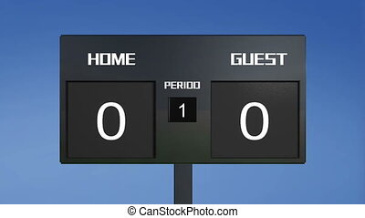 soccer match scoreboard home lost s