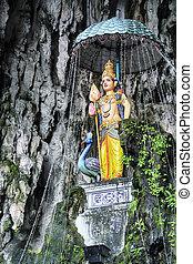 Batu Cave, Kuala Lumpur - Malaysia - Hindu goddess in the...