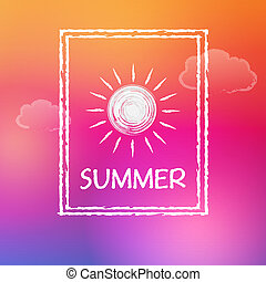 summer with sun in frame