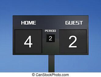 soccer scoreboard score 4 & 2 - soccer match scoreboard...