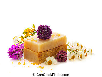 Natural herbal soap - Natural handmade herbal soap with wild...