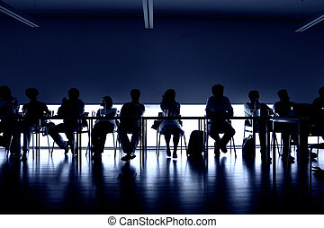 unity - group of people at a meeting, interior picture