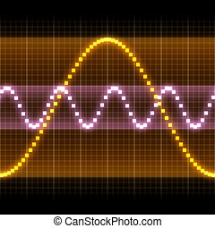 Sound - Graphic of a digital sound. Can be used as...