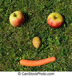 freundliches Gemuesegesicht - friendly vegetable face