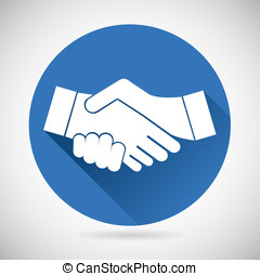 Partnership Symbol Handshake Icon Template Silhouette on...