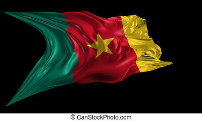 Flag of Cameroon - Beautiful 3d animation of Cameroon flag...