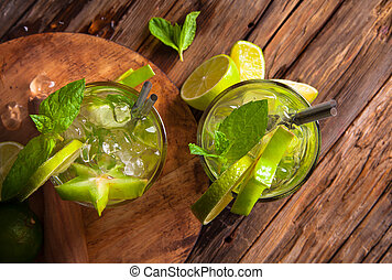 Summer drink - Summer lime cocktail , drink with fresh...