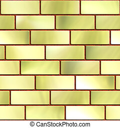 Brick wall - High quality computer generated texture of gold...