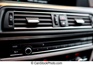 air conditioning and car ventilation system with details of...