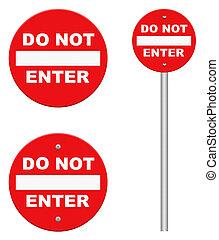 no walking lane walkway footpath road sign on pole