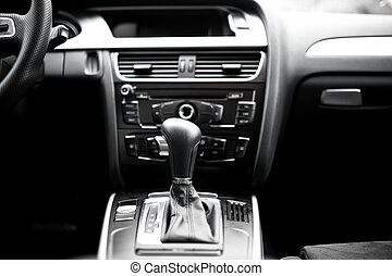 Interior details and elements of modern car, close-up of...