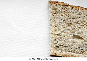 Cutted bread background - Cutted bread on white background