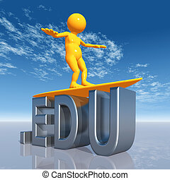 EDU Top Level Domain - Computer generated 3D illustration...