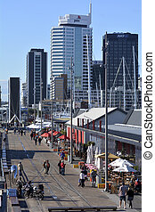 Wynyard Quarter Auckland - New Zealand - AUCKLAND - JUNE 01...