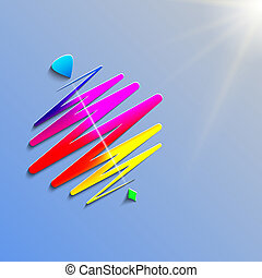 modern color whirligig, on an abstract background. Fast...