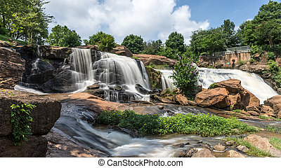 Falls Park HDR - HDR image of scenic Fall Park on The Reedy...