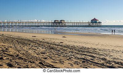 Huntington Beach Pier HDR - Huntington Beach Pier and...