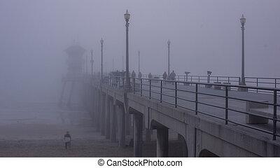 Huntington Beach Pier Fog