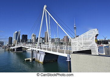 Wynyard Crossing Auckland New Zealand - AUCKLAND - JUNE 01...