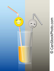 Glass Straws Half Full Half Empty - Half full or half empty...