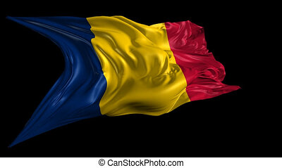 Flag of Chad - Beautiful 3d animation of Chad flag with...