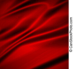 Beautiful Red Silk. Drapery Textile Background, Vector...