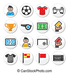 Soccer or football vector icons