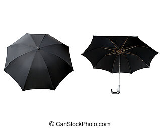 Umbrella - Black umbrella isolated over a white background