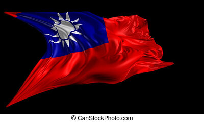 Flag of Republic of China - Beautiful 3d animation of the...