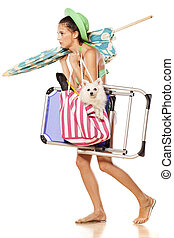 going to the beach - loaded with all sorts of things, a...