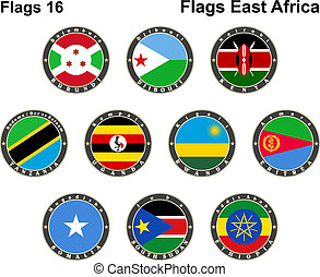 World flags. East Africa.