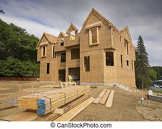 New house construction - A single family home under...