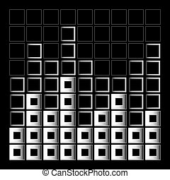 Abstract composition with squares of different sizes-...