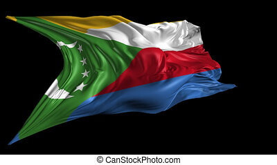 Flag of Comoros - Beautiful 3d animation of Comoros flag...