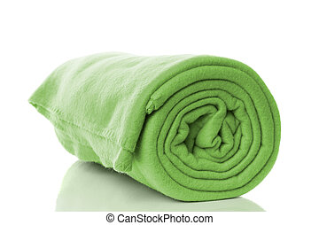 fleece blanket - mint green fleece blanket roll