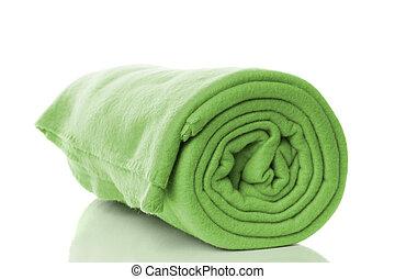 fleece blanket - mint green fleece blanket roll