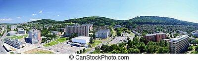 Zlin city center - Panoramatic view over the Zlin city...