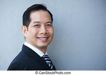 Portrait of a charming businessman - Close up portrait of a...