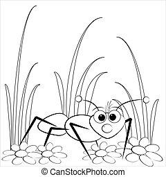 蟻, 着色,  -, ページ, デイジー