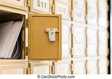 correo, Cajas