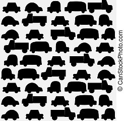 Seamless background of black cars