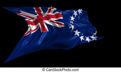 Flag of Cook Islands - Beautiful 3d animation of Cook...
