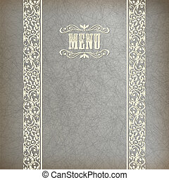 Vintage Abstract Retro Lace Banner Background