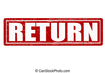 Return - Stamp with word return inside, vector illustration