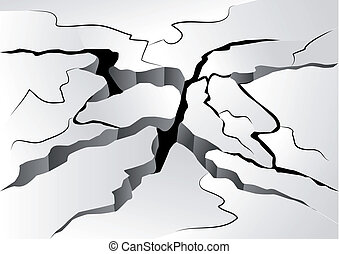 crack in the ground. abstract broken background