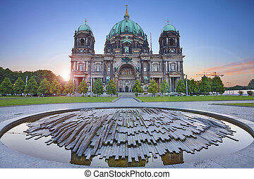 Berlin Cathedral - Image of the Berlin Cathedral during...
