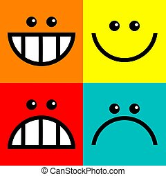 Square Icon Faces