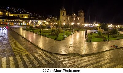 Cusco, Peru Time lapse - Timelapse video footage of the City...