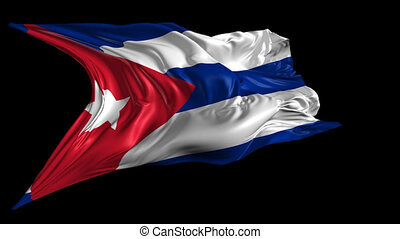 Flag of Cuba - Beautiful 3d animation of Cuba flag with...