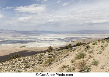 Owens Dry Lake near Lone Pine California - Mountain view...